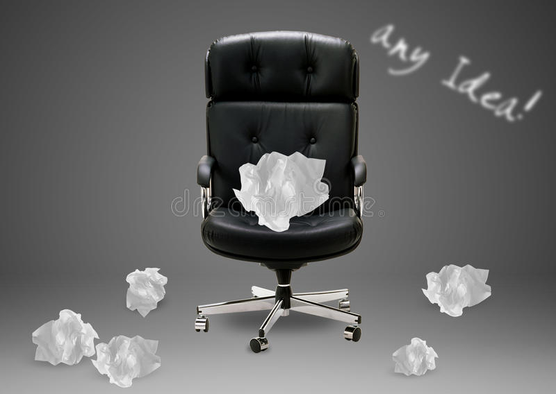Download Black armchair stock photo. Image of conceptual, empty - 27135944