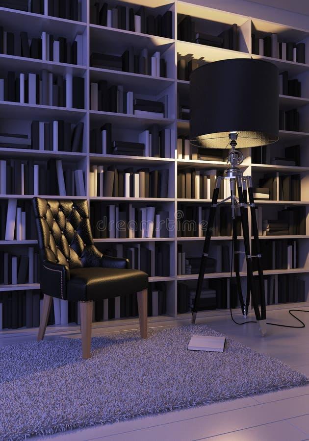 Black armchair stock photography
