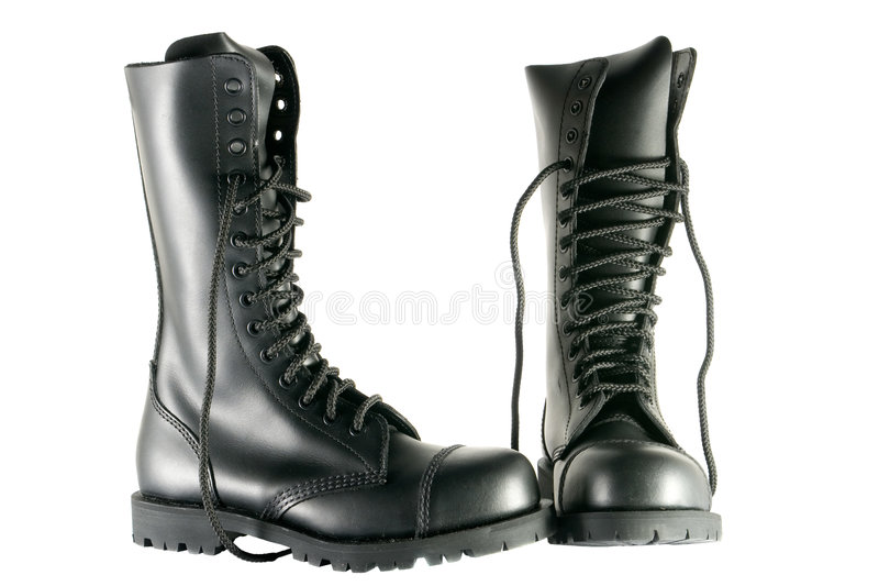 Download Black Army Shoes Stock Images - Image: 1815084