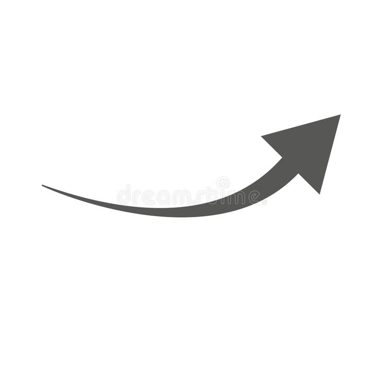 Black arrow icon on white background. flat style. arrow icon for your web site design, logo, app, UI. arrow indicated the stock illustration