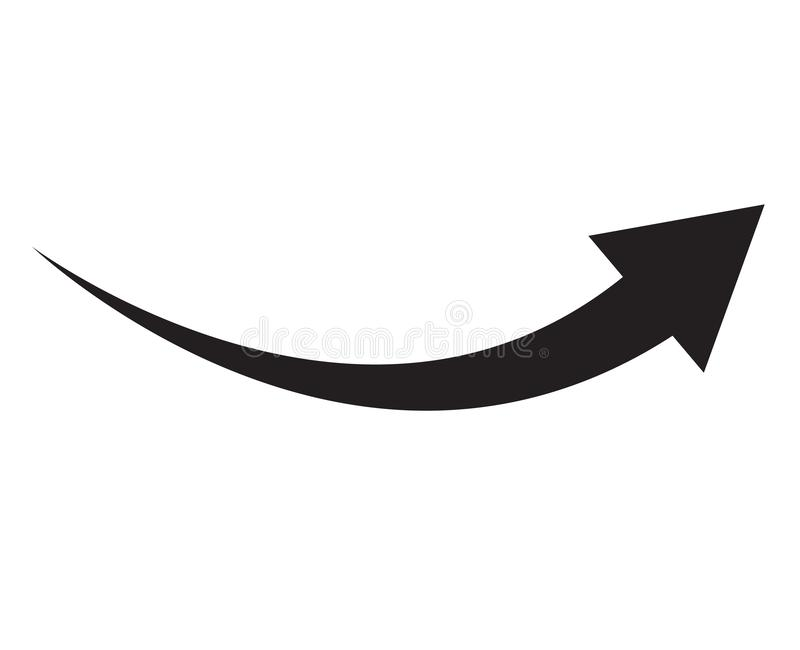 Black arrow icon on white background. flat style. arrow icon for your web site design, logo, app, UI. arrow indicated the royalty free illustration