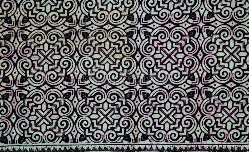 Black arrow motif batik cloth stock images