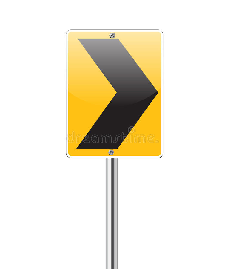 Download Black Arrow Turn Right Traffic Sign On White Royalty Free Stock Photos - Image: 30675848