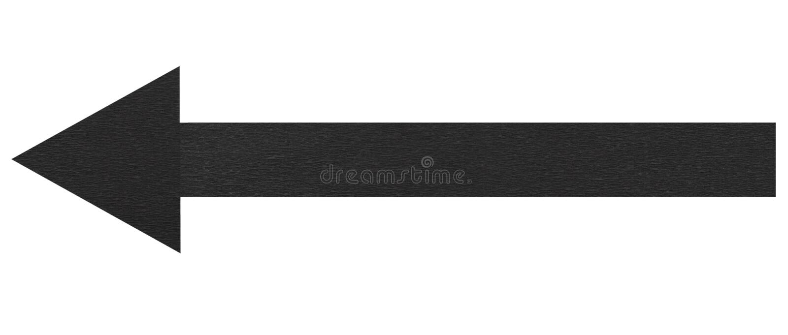 Black arrow royalty free stock images