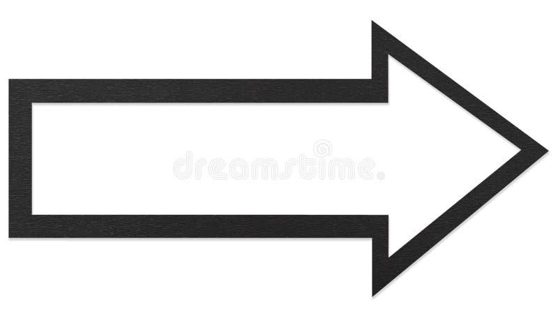 Black arrow stock image