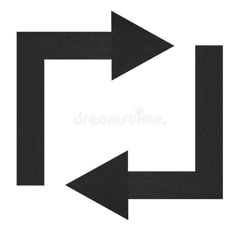 Black arrows stock images