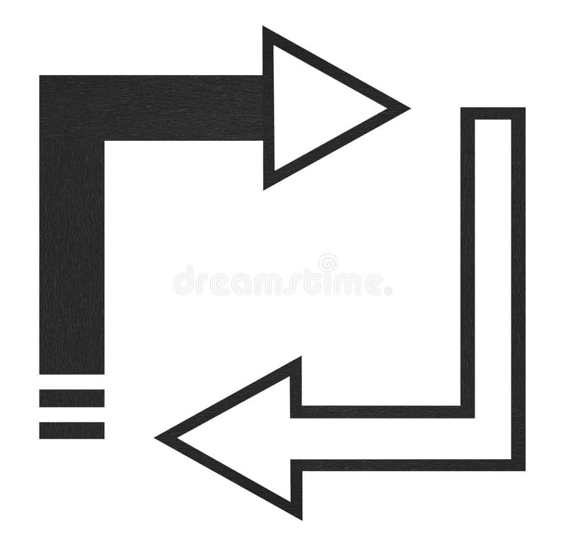 Black arrows stock image