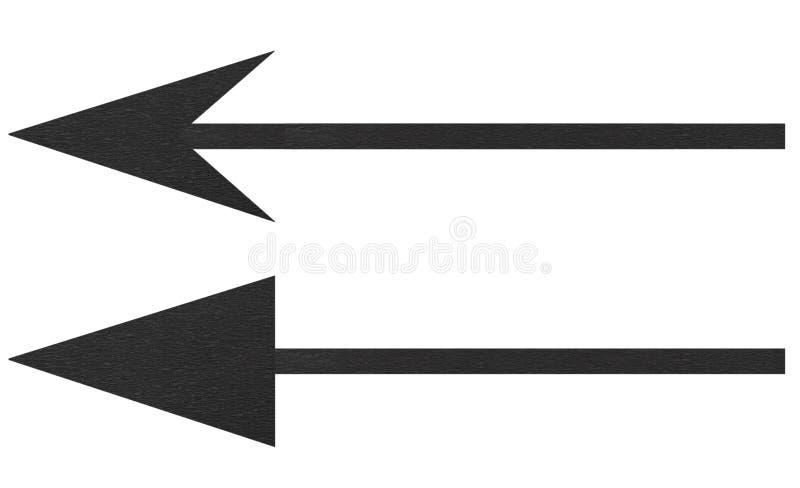Black arrows royalty free stock photography