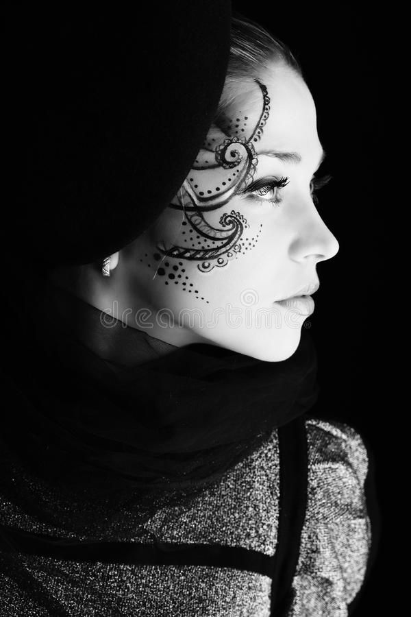 Black art stock photo