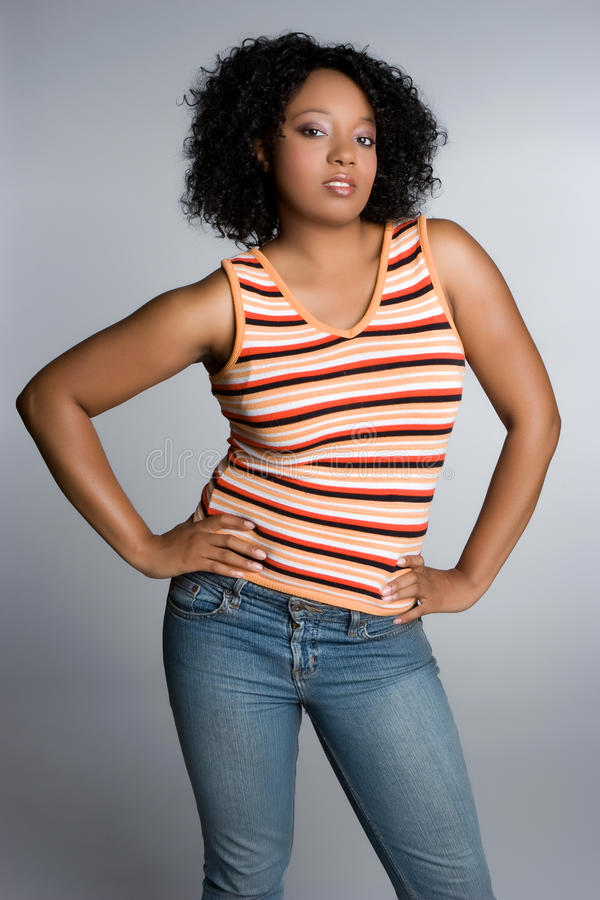 Black Attitude Woman royalty free stock photos