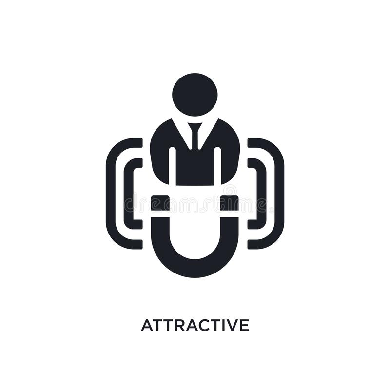 black attractive isolated vector icon. simple element illustration from startup concept vector icons. attractive editable logo stock illustration