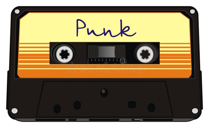 Object and punk music vector illustration