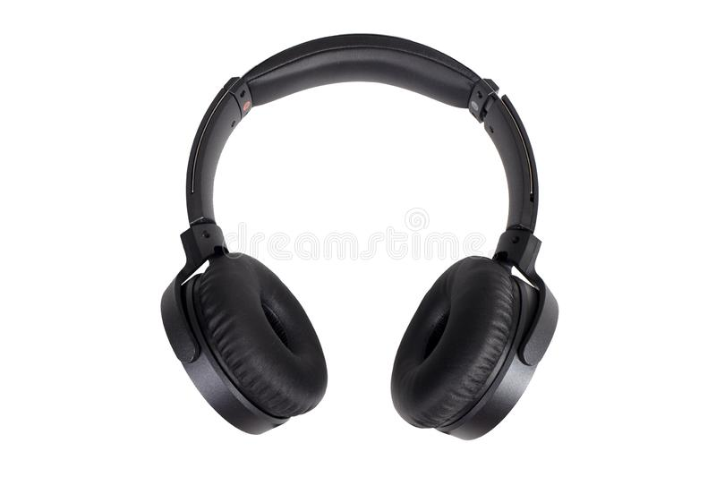 Black Audio Headphones royalty free stock photos