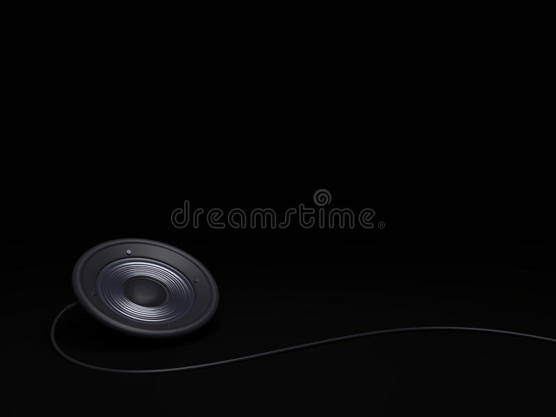 Black audio speaker background stock images