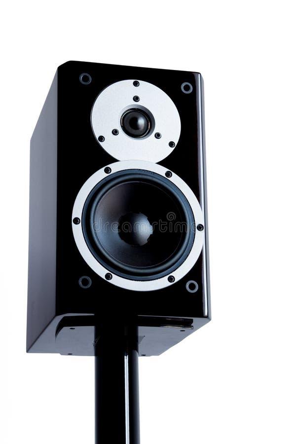 Download Black Audio Speakers On Black Stand Stock Image - Image: 35400685