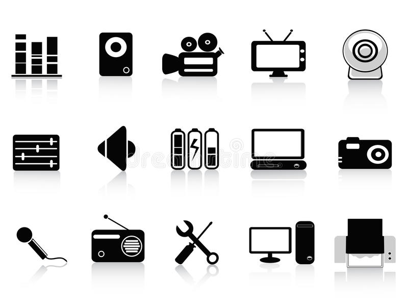 Download Black Audio, Video And Photo Icons Stock Vector - Image: 22423642