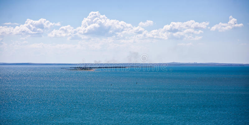 Black and Azov Sea in Crimea stock photos