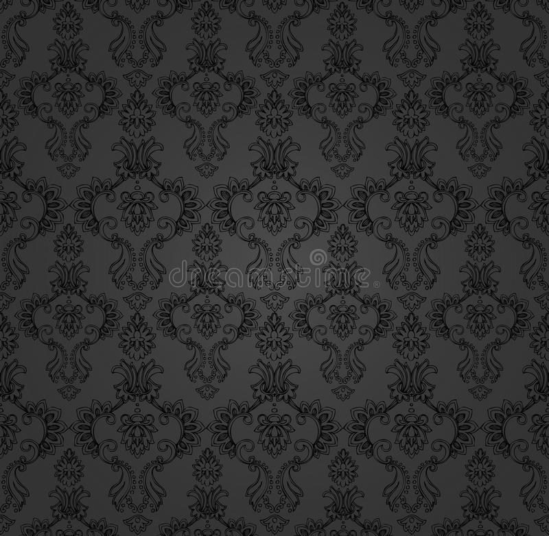 Download Black Backdrop Baroque stock vector. Image of curves - 18583510