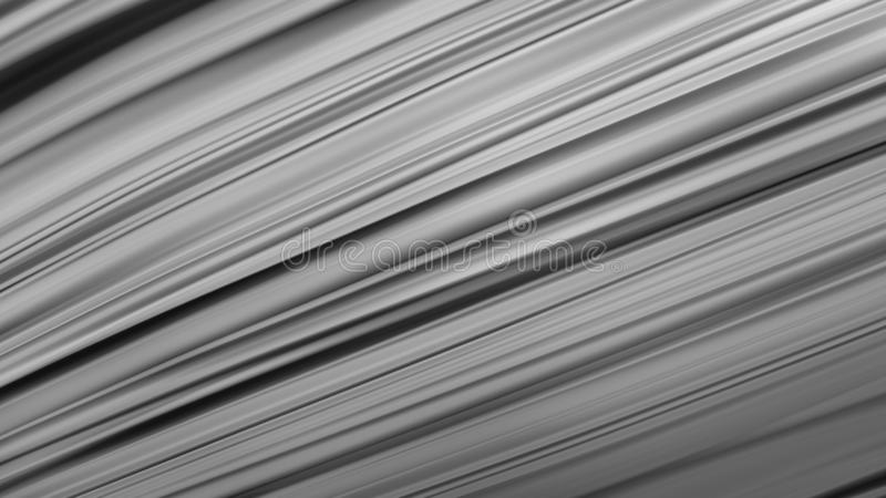 Black background abstract cloth or liquid waves illustration of wavy folds of silk texture satin or velvet material or gray. Luxurious background or wallpaper stock illustration