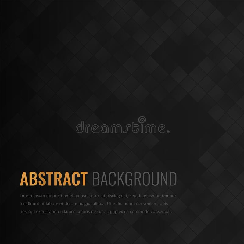 Black background. Abstract geometric template for business. Background texture with square and triangle. Vector. Illustration vector illustration