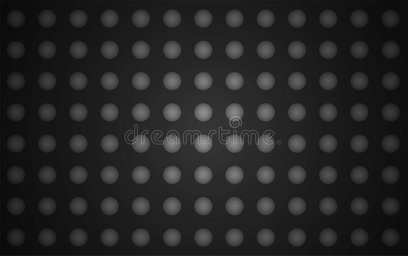 Vector black background with balls vector illustration