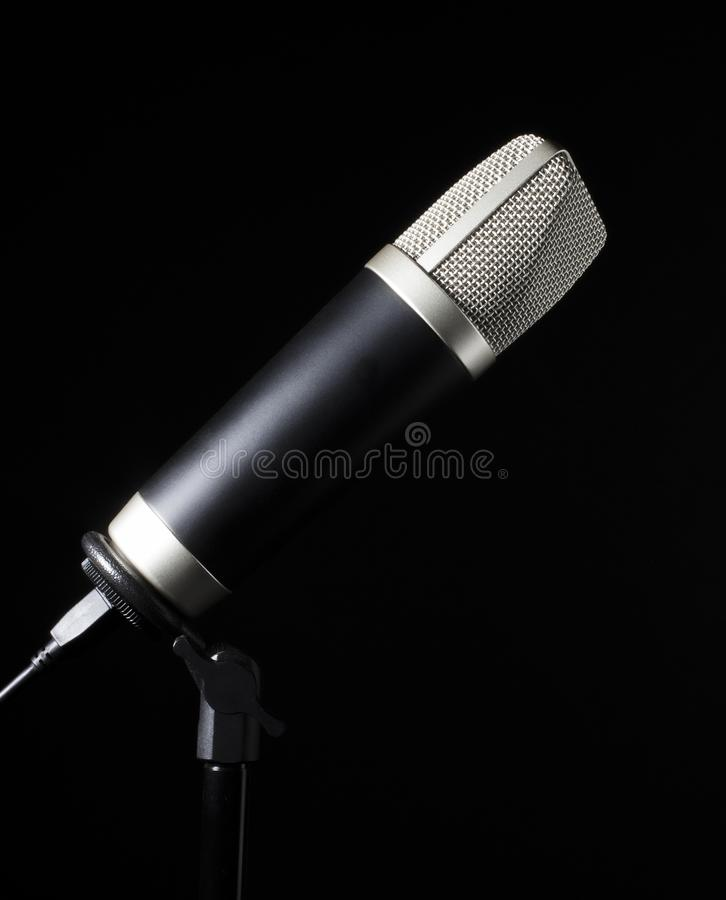 Wire meshed microphone stock image