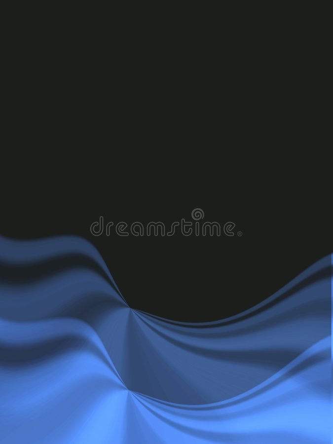 Black background with blue folds vector illustration