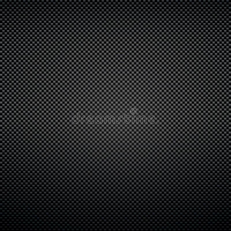 Black background of carbon fibre texture vector illustration