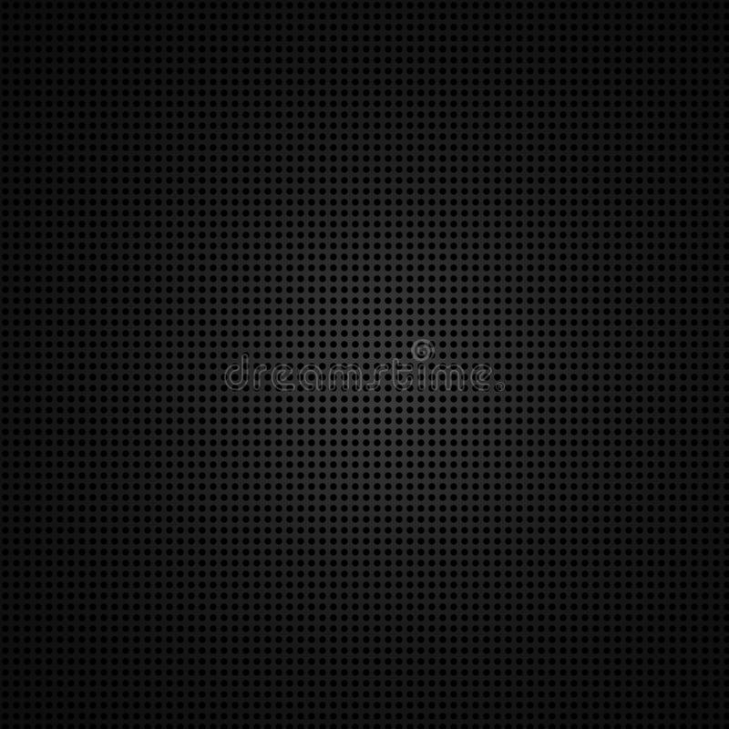 Black Background Of Circle Pattern Stock Photography