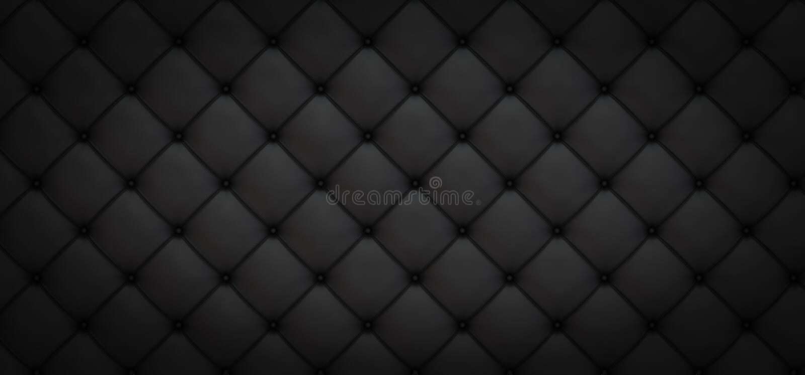 Black background of elongated rhombuses with buttons - 3D illustration stock illustration