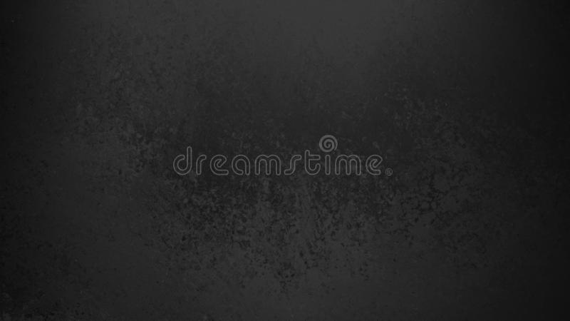 Black background with faint grunge texture in old vintage design. Elegant solid black background with faint grunge texture in old vintage design, dark color stock illustration