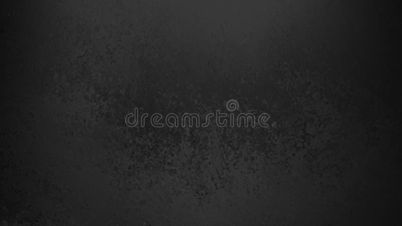 Black background with faint grunge texture in old vintage design stock illustration