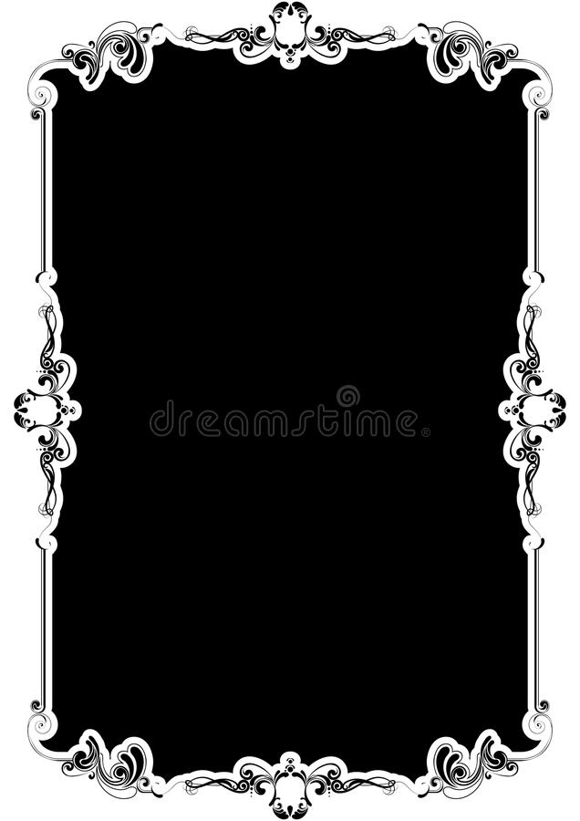 Black background frame stock illustration