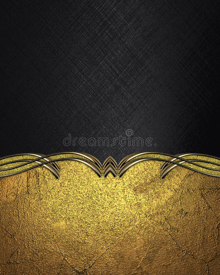 Black background with gold pattern. Template for design. copy space for ad brochure or announcement invitation, abstract backgroun. D royalty free stock images