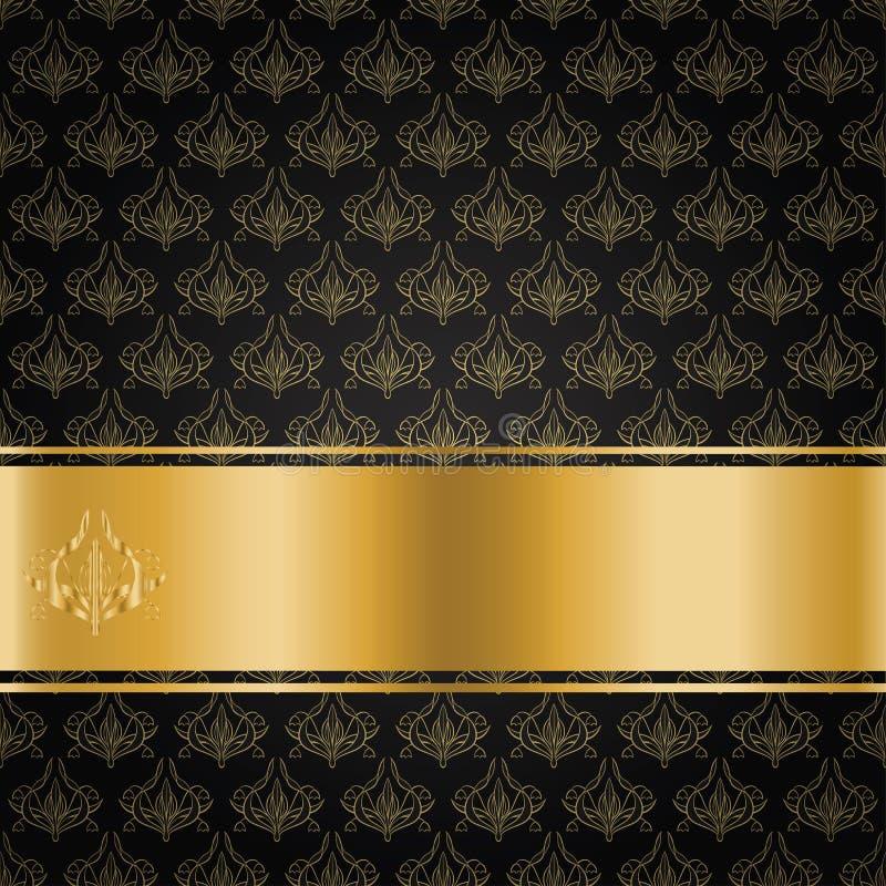 Черный фон золотой