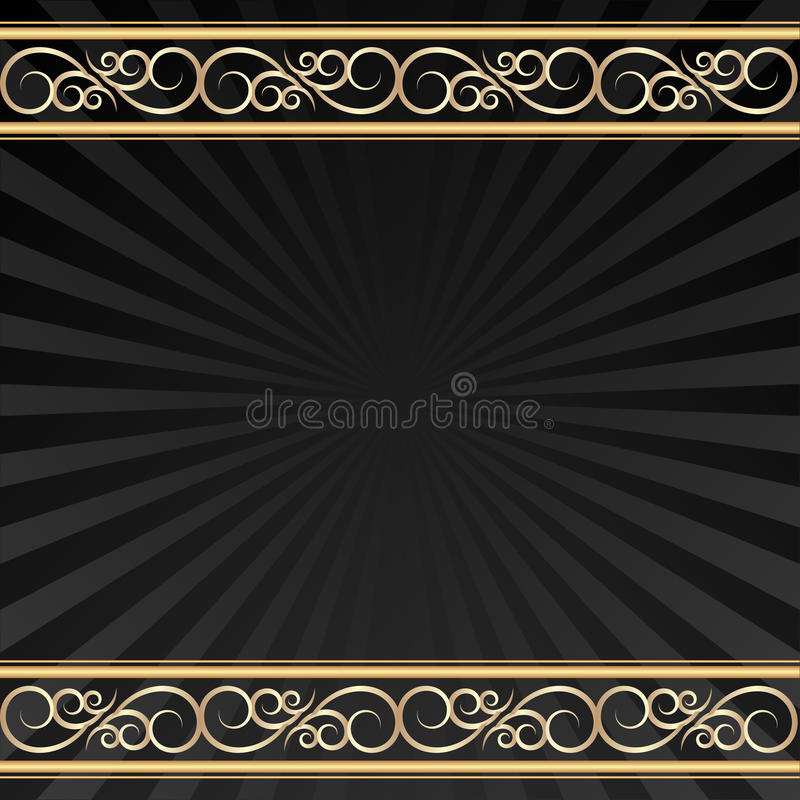 Download Black background stock vector. Image of decorative, ornaments - 30322988