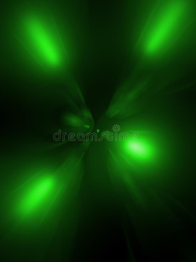 On black background green blue colour, abstraction stock photography