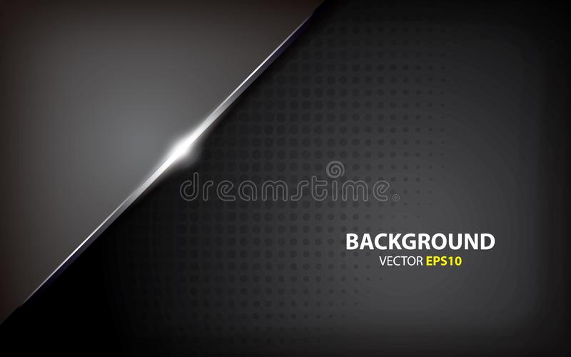 Black background overlap layers with light effect. minimal concept. Black background overlap layers. minimal concept. dark background. modern background. light vector illustration