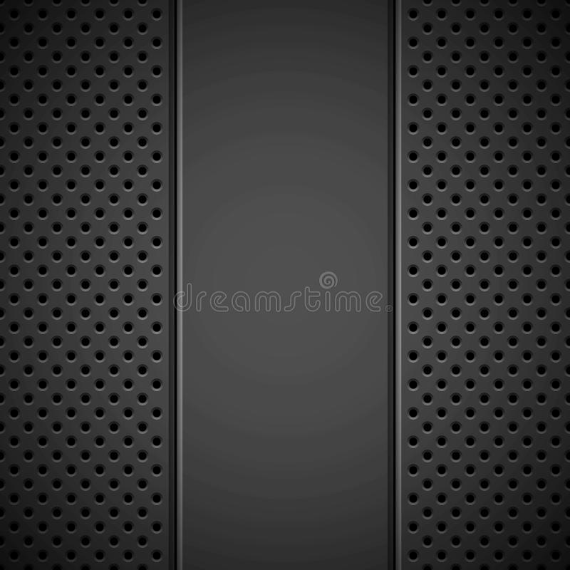 Black Background with Perforated Pattern vector illustration