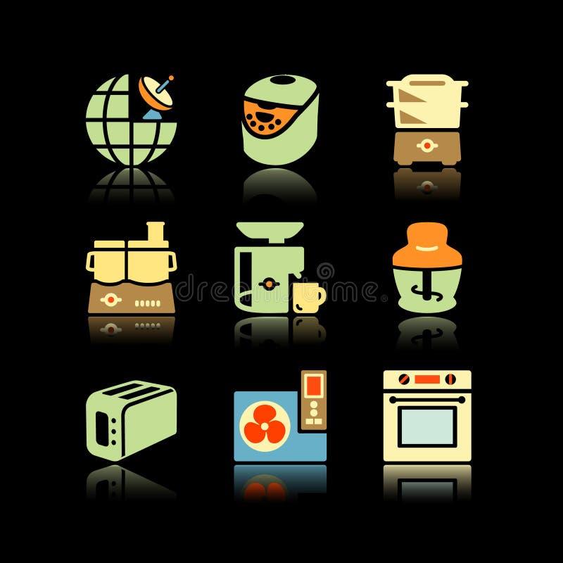 Black background set 17 royalty free illustration