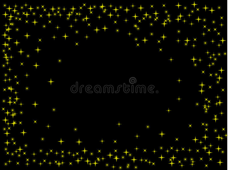 Black background with stars vector illustration