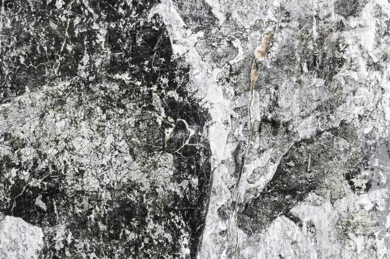 Black background, texture of marble and gray stone gray slabs stock images