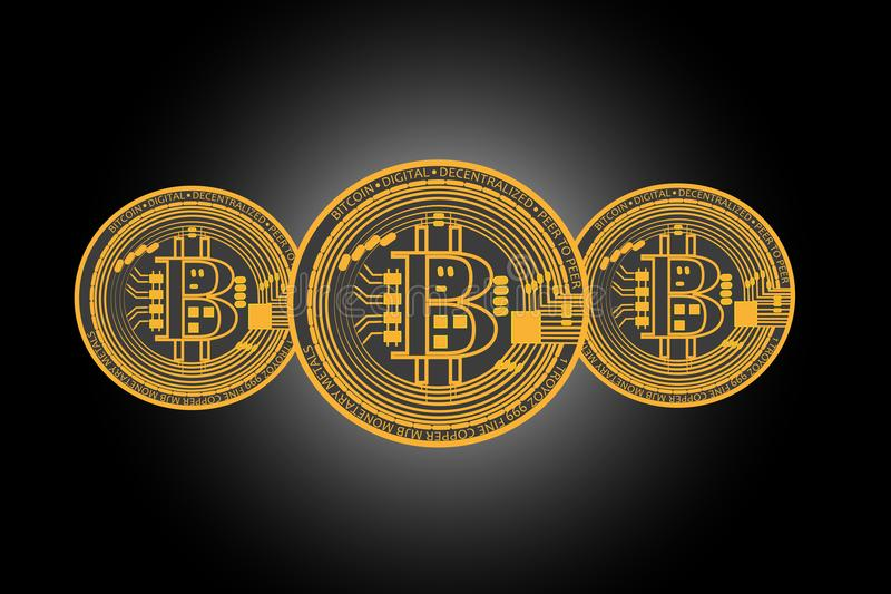 Background with bitcoins vector illustration