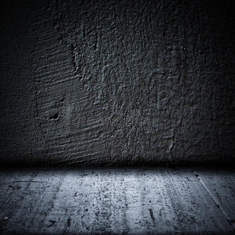 Black Background Wall And Floor Texture Stock Image