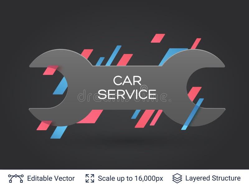 Download black badge spanner sticker stock vector illustration of parts sticker 110406907