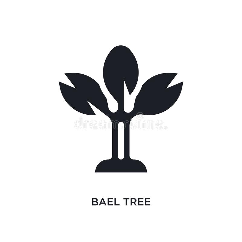 black bael tree isolated vector icon. simple element illustration from religion concept vector icons. bael tree editable logo stock illustration
