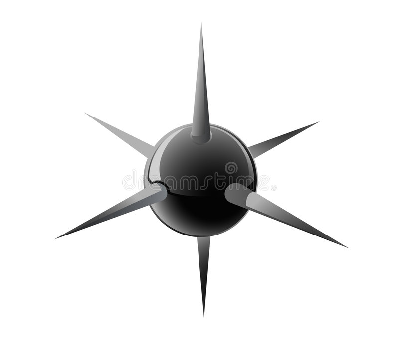 A black ball with needles