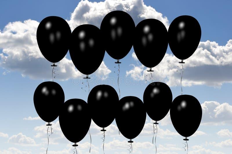 Black baloons... stock illustration