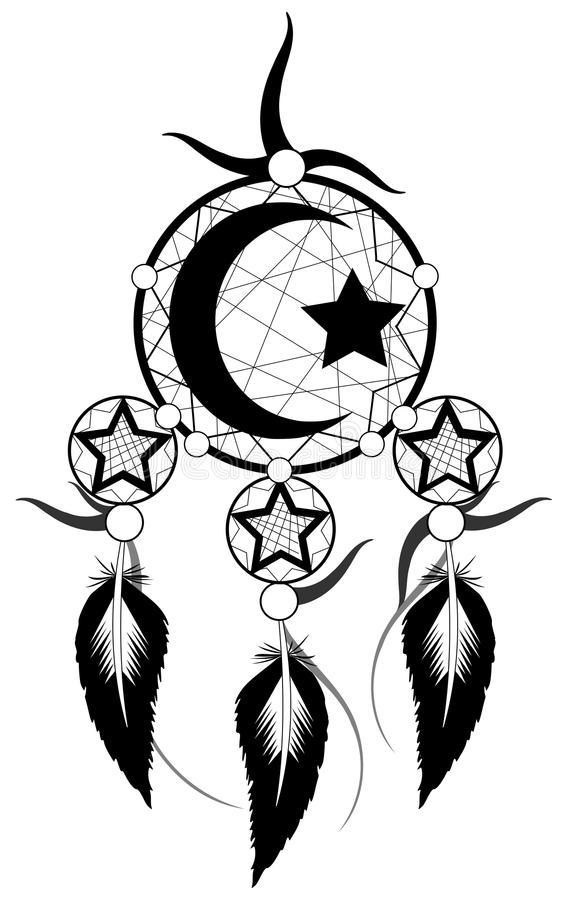 Black Banishes Thoughts With Islam Symbol Stock Vector
