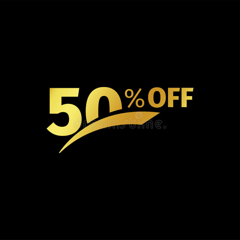 Black Banner Discount Purchase 60 Percent Sale Vector Gold